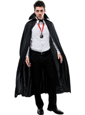 Full Length Black Cape Adult