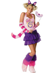 Sassy Cheshire Cat Costume Girls