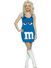 Blue M&M Dress Costume Adult