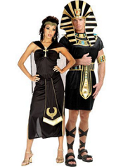 Queen Nefertiti and King Tut Couples Costumes