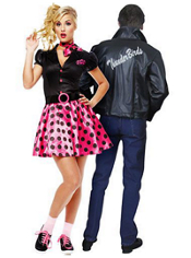 Sock Hop 50's and 50's Thunderbird Jacket Couples Costumes