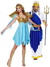 Victory Goddess and Neptune Couples Costumes