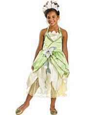 Princess and the Frog Tiana Costume Girls Deluxe