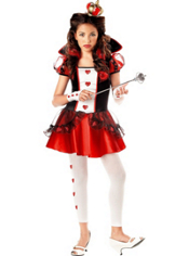 Red Queen of Hearts Costume Girls
