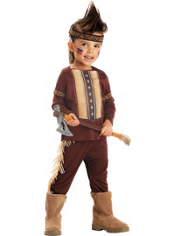Lil Warrior Native American Costume Toddler Boys