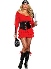 Plus Size Pirate Wench Costume Adult