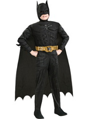 The Dark Knight Rises Batman Muscle Deluxe Costume Boys