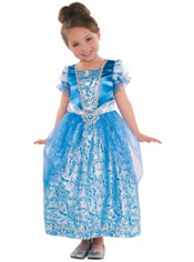 Girls Glitter Cinderella Costume