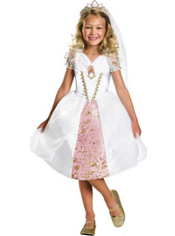 Tangled Wedding Rapunzel Costume Girls Deluxe