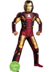 The Avengers Light Up Mark VII Iron Man Muscle Costume Boys