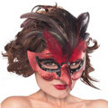 Fire Bird Feather Mask Adult