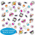 Halloween Glow-in-the-Dark Nail Stickers 50ct