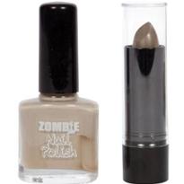 Zombie Gray Nail Polish and Lipstick Set