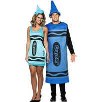Sky Blue Crayola Crayon and Blue Crayola Crayon Couples Costumes