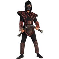 Red Skull Warrior Ninja Costume Boys