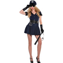 Officer Rita Dem Rights Cop Costume Adult