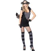 Risque Raccoon Costume Adult