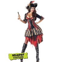Adult Pirate Body Shaper Costume