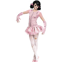 Girls Zombie Ballerina Costume